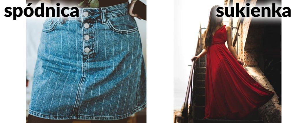 Różnica między spódnicą i sukienką