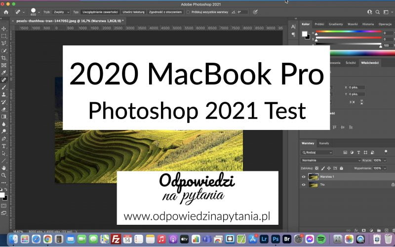 Adobe Photoshop 2021 na MacBook Pro 2020